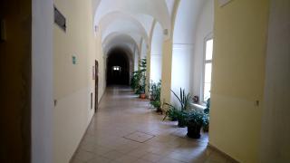 Vnitřní křížové chodby v sousedství rajského dvora, současný stav