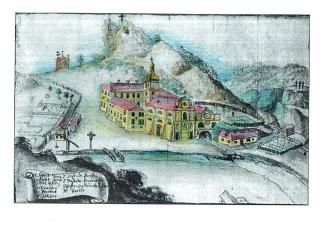 Pohled na klášter z roku 1717