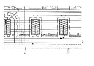 Detail návrhu sanace severozápadní fasády