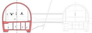 Obr. 09a  Vývoj  koncepčních  řešení  silničního  tunelu  Pir  Panjal  –  řešení  v DSP