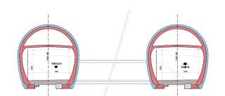 Obr. 09b Vývoj  koncepčních  řešení  silničního  tunelu  Pir  Panjal – řešení připravené koncesionářem