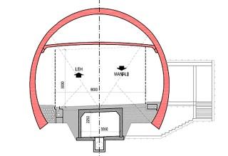 Obr. 11a Koncepční řešení silničního tunelu pod průsmykem Rothang