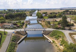 Lužec nad Vltavou – pohled na mosty 003.A, 003.B i 004 a 004.A