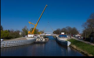 Silniční most 003.C – pohled na montáž NOK