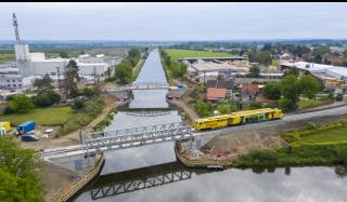 Železniční most 003.B – pohled na realizaci železničního svršku