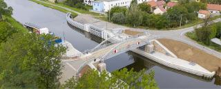 Silniční most 003.C – pohled na téměř dokončené dílo