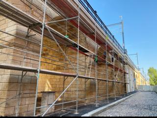 Obr. 16 Klenbové mosty – restaurátorské práce pískovcového zdiva