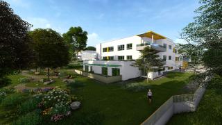Západní Oáza a balkony oddělení Unit Care