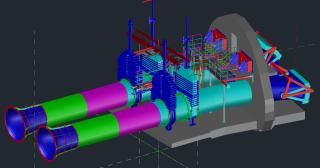 PS 01 Technologická část – schéma spodních výpustí s uzávěry