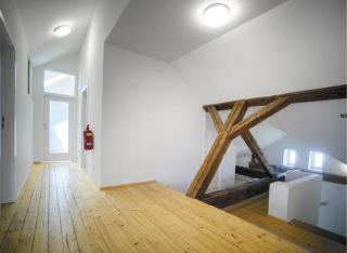 Interiér chodby v podkroví, nový stav