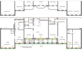 Obr. 09 Úprava průčelí stavby – půdorys původní a nový stav