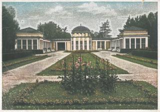 Obr. 03 Pavilon Natáliina pramene na pohlednici z roku 1917 (zdroj: [2])