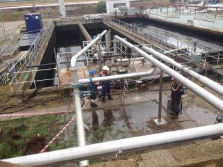 Provizorní převod vody přes 2. stupeň