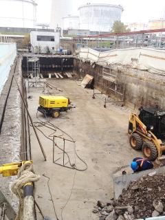 Sanace usazovacích nádrží – 1. stupeň – primární sedimentace