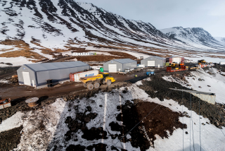 Obr. 3 Zařízení staveniště portálu Rauðsstaðir