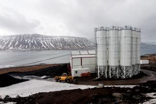 Obr. 4 Zařízení staveniště portálu Rauðsstaðir – betonárna