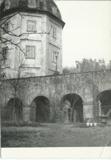 Stav mostu v druhé polovině 19. století, pohled od jihozápadu