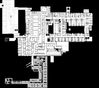 Obr. 11 Typické nadzemní podlaží pavilonu chirurgie po dostavbě