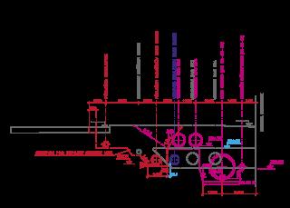 Obr. 20 Souhrn potrubí podél objektu ozonizace