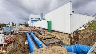 Obr. 09 Propojovací potrubí: Ř 13 a Ř 14, které propojují regulační vodojem s vodojemem prací vody