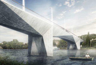 Obr. 02b Nový Dvorecký most v Praze, vizualizace