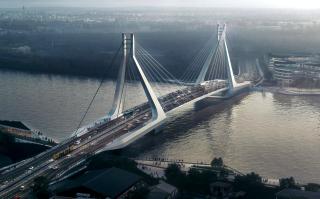 Obr. 01 Nový most v Budapešti, vizualizace