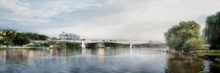 Obr. 02a Nový Dvorecký most v Praze, vizualizace