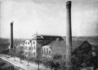 Čisticí stanice odpadních vod v Bubenči po spuštění v roce 1906