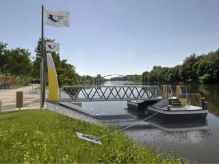 Obr. 3 Lysá nad Labem – vizualizace připravovaného přístaviště pro osobní lodní dopravu – charakteristický design přístaviště na Středním Labi