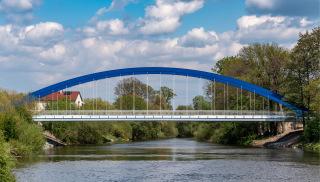 Nový most plukovníka Šrámka přes Orlici v Hradci Králové, v části Svinary