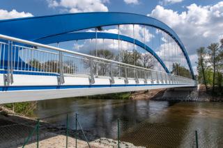 Pohled na nový jednopolový most