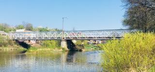 Pohled na původní dvoupolový most