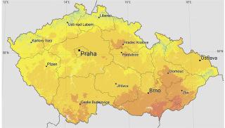 Obr. 08 Osvitová mapa České republiky