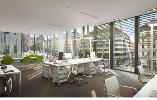 Kancelářské prostory v 5.NP, vizualizace