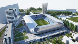Vizualizácia – Národný futbalový štadión v Bratislave a komplex komerčných budov (autor: Ing. arch. Karol Kállay)