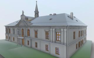 Obr. 3b BIM model zámku v Pravoníně