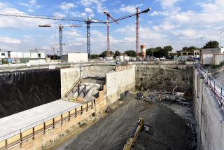 Stavební jáma Hlavní čerpací stanice ÚČOV dotěžená na základovou spáru