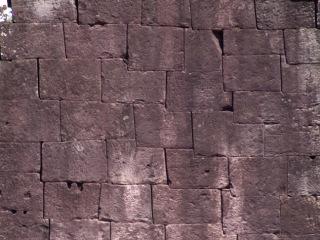 Obr. 4b Příklady spárořezu zdiva chrámových zdí – náhodný (zdroj: archiv autora)