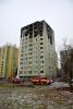 Obr. 06 Pohľad na východnú a severnú časť obvodového plášťa bytového domu po požiari