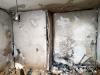 Obr. 10 Poruchy následkom výbuchu, steny za výťahovými šachtami