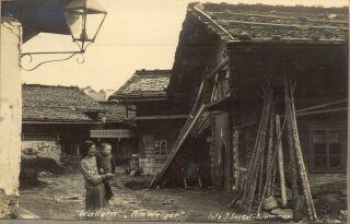 Pohled do části Volar zvané Weiger (bažina) na jednotlivé domy
