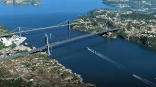 Obr. 03 Nový most vedený ve stopě stávajícího vedení velmi vysokého napětí (VVN), vizualizace