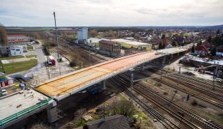 Obr. 26 Celkový pohled na most po výsuvu