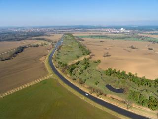 Celkový pohled na území včetně biokoridoru – nový stav, vizualizace