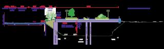 Obr. 5 Územní studie – Belánka. Návrh nového veřejného prostoru. Zastřešení stávajícího koridoru. Řez P39 – varianta B