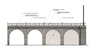 Obr. 07. Vizualizace části viaduktu přes Pobřežní ulici