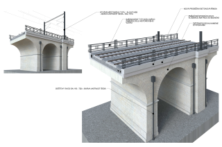 Obr. 12. Vizualizace typového kamenného viaduktu po rekonstrukci