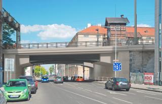 Obr. 06. Nový most přes ulici Křižíkova – vizualizace