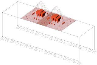 Obr. 5b Aplikace zatížení na numerický model – geotechnik