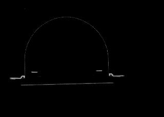 Příčný řez jižní (pravou) tunelovou troubou tunelu Prešov